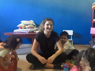 Rosanna volunteering at the Kindergarten in Buenos Aires.
