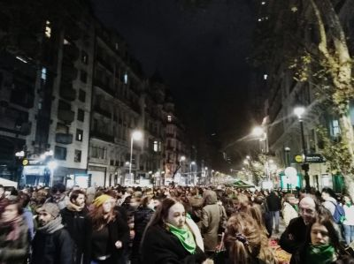 Protests in favor of legal abortion in Buenos Aires