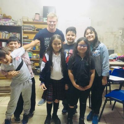 Thomas with some of his students in Buenos Aires