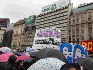 Demonstration in Buenos Aires